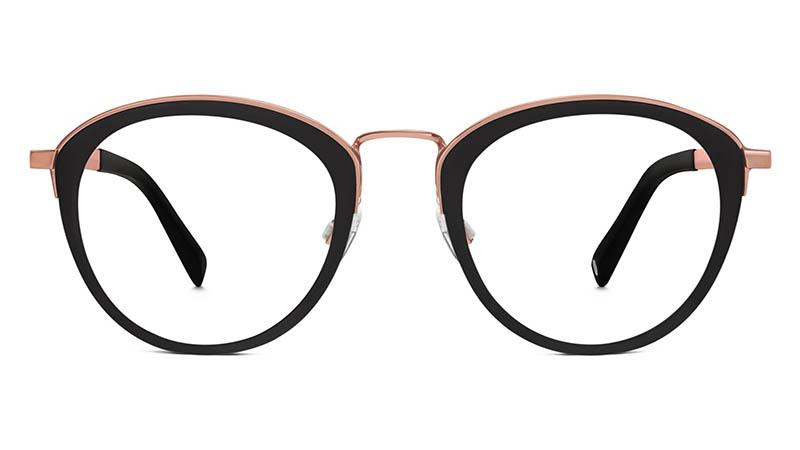 Warby Parker Mona  Glasses in Jet Black $145