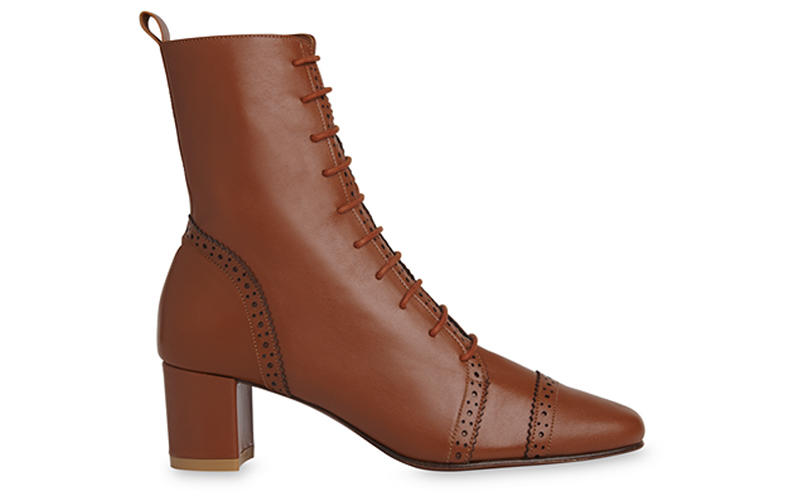 Whistle x By Far Burlington Boot in Brown Leather $469