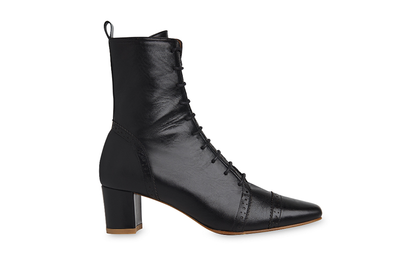 Whistles x By Far Burlington Boot in Black Leather $669