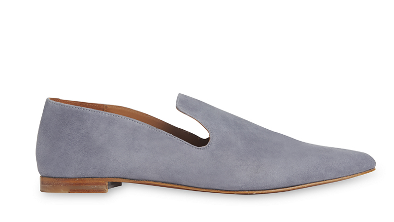 Whistles x By Far Ledbury Flat Shoe in Blue Suede $469