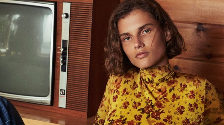 Giedre Dukauskaite Channels Vintage Style for Zara's Fall Edit