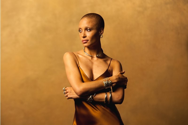 Adwoa Aboah wears John Hardy jewelry behind-the-scenes at campaign shoot