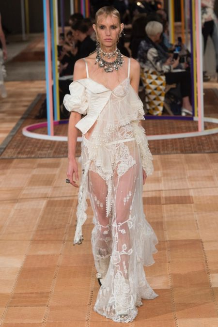 Alexander McQueen Does Deconstructed Style for Spring 2018