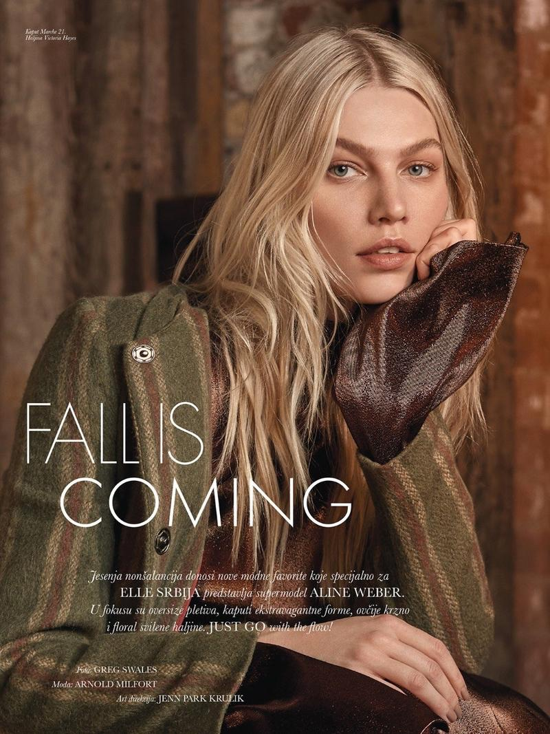 Aline Weber Charms in the Fall Collections for ELLE Serbia