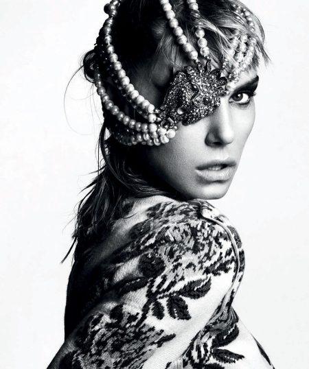 Angela Lindvall Transforms in Statement Looks for Harper's Bazaar Spain