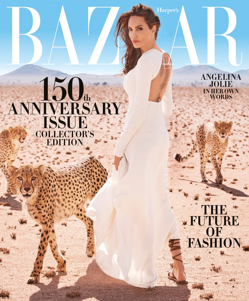 Angelina Jolie on Harper's Bazaar November 2017 Cover