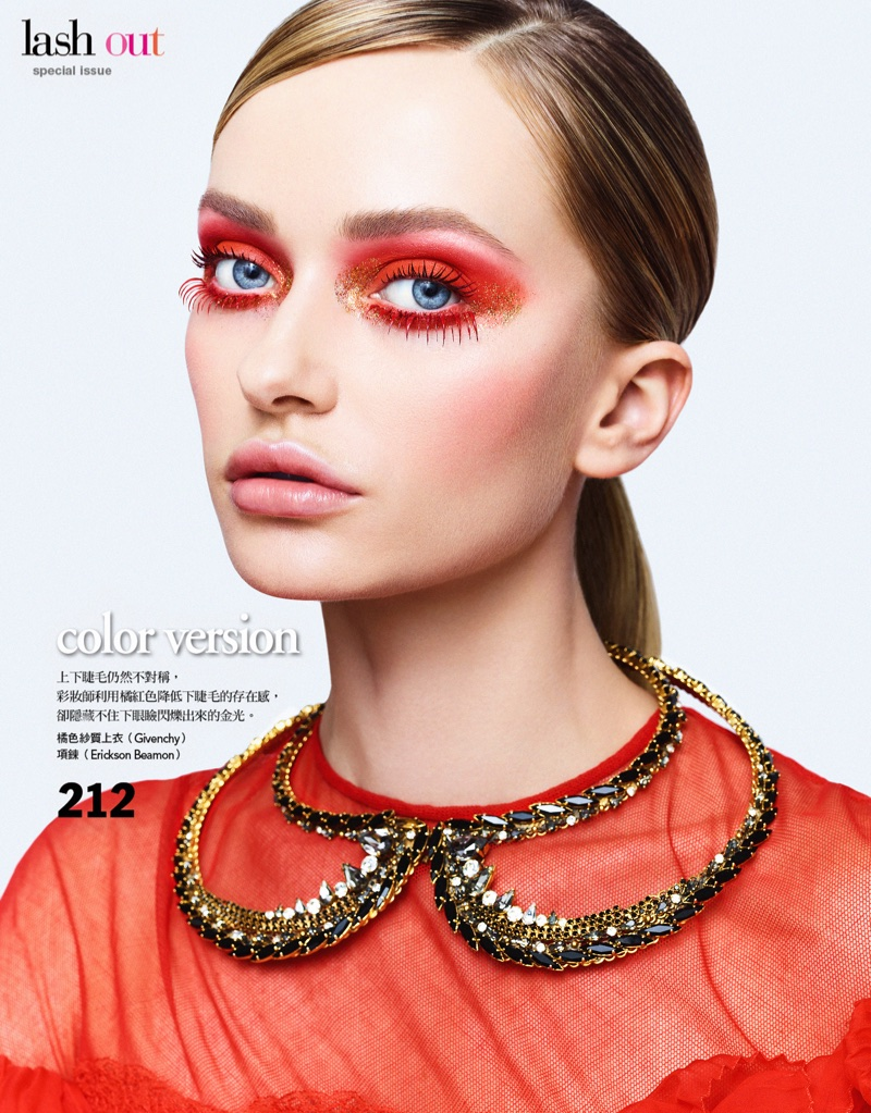 Annabella Barber Wears Ultra-Glam Beauty for Vogue Taiwan