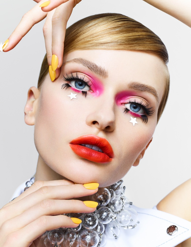 Annabella Barber Wears Ultra Glam Beauty For Vogue Taiwan