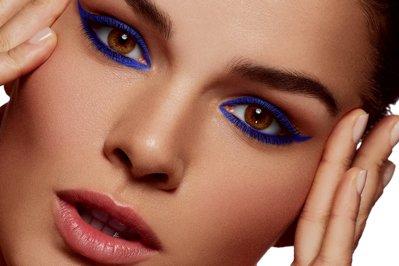 Anne Verhalien wears a bold blue eyeshadow. Photo: Beth Sternbaum