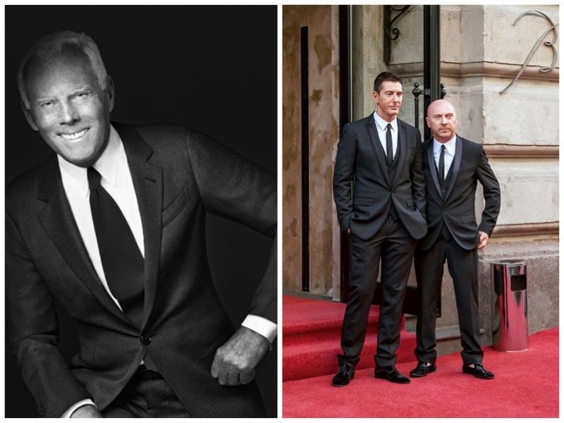 Giorgio Armani & Dolce & Gabbana. Photo: Armani / Shutterstock.com