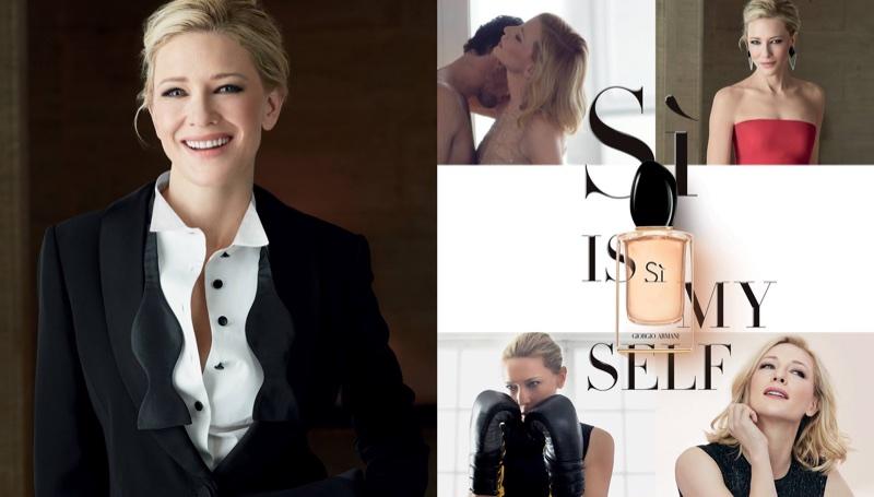 Actress Cate Blanchett stars in Giorgio Armani Si fragrance campaign