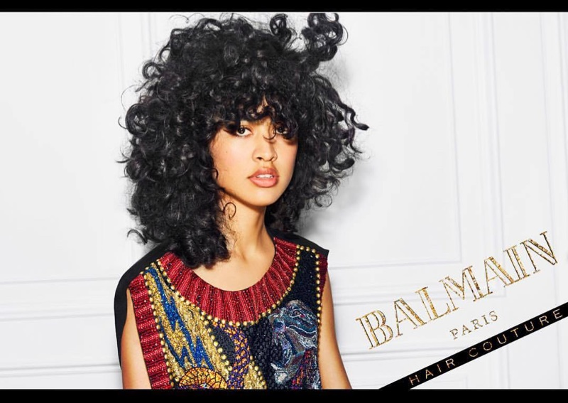 Luz Pavon stars in Balmain Hair Couture Icons campaign
