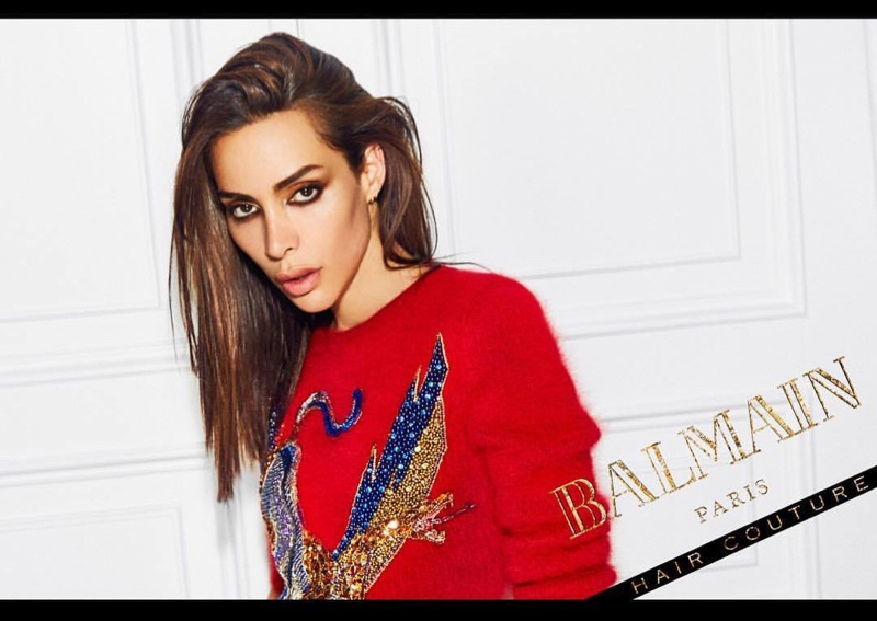 Ines Rau fronts Balmain Hair Couture Icons campaign