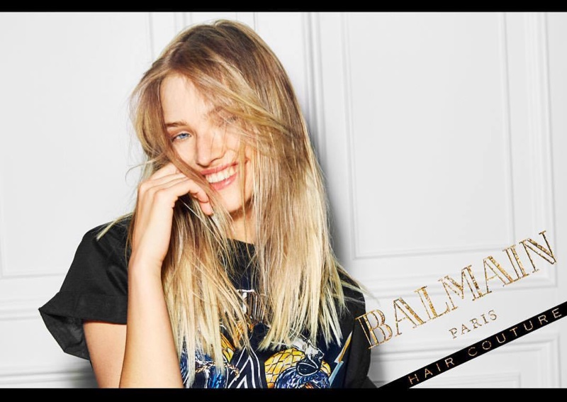 Sasha Luss stars in Balmain Hair Couture Icons campaign