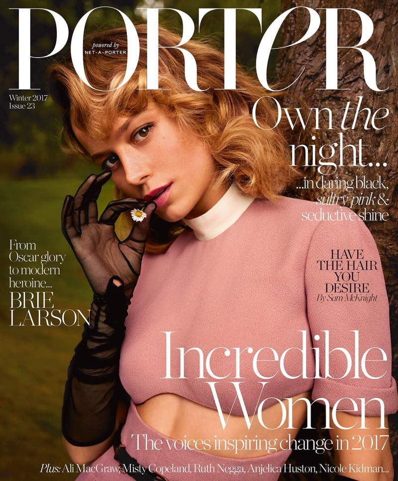 Brie Larson on PORTER Magazine Winter 2017 Cover