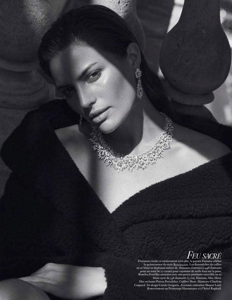 Cameron Russell Sparkles in Precious Gems for Vogue Paris
