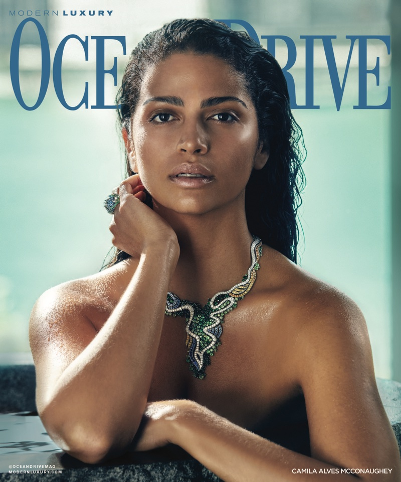 Camila Alves on Ocean Drive Magazine November 2017 Cover