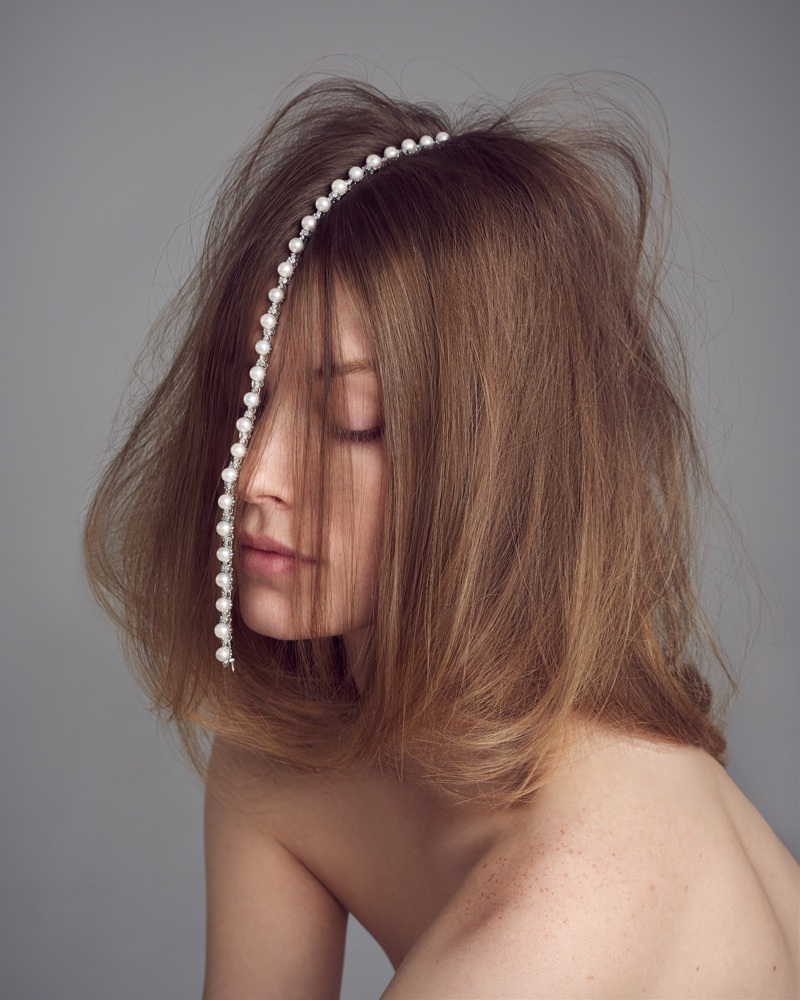 Caroline Lossberg Sparkles in Precious Gems for Harper's Bazaar Czech