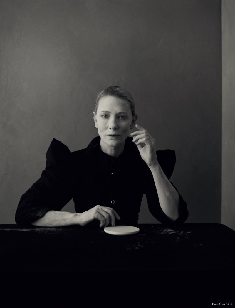 Actress Cate Blanchett poses in So It Goes Magazine