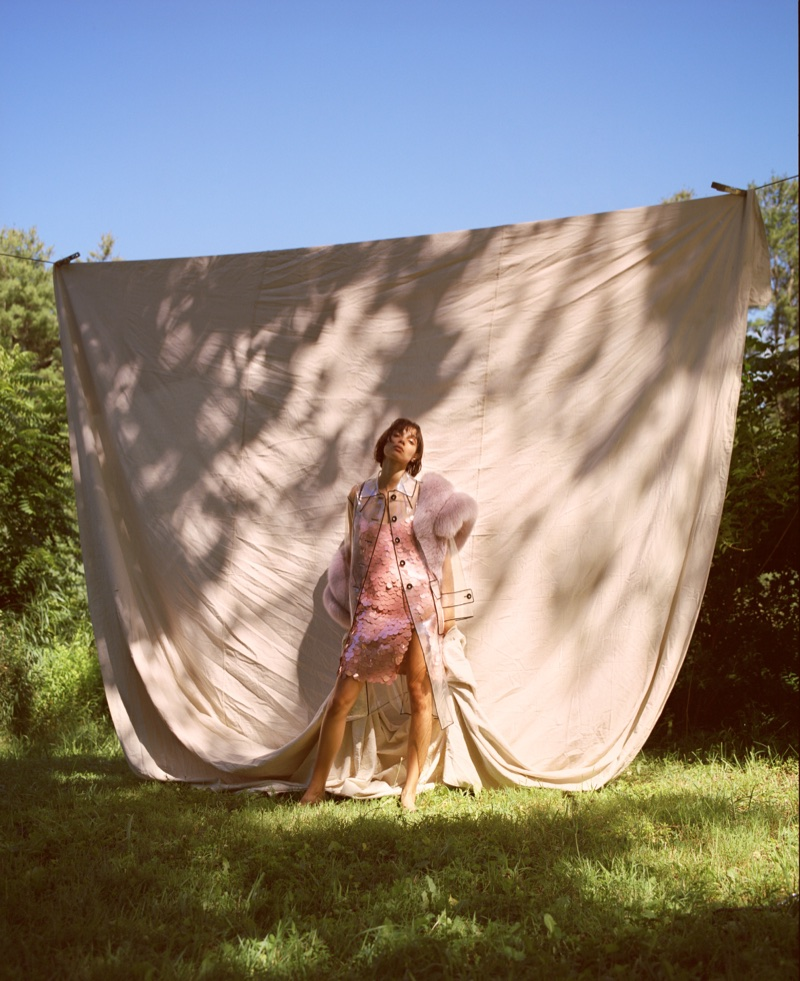 Charlee Fraser Heads Outdoors in Dreamy Looks for ODDA Magazine