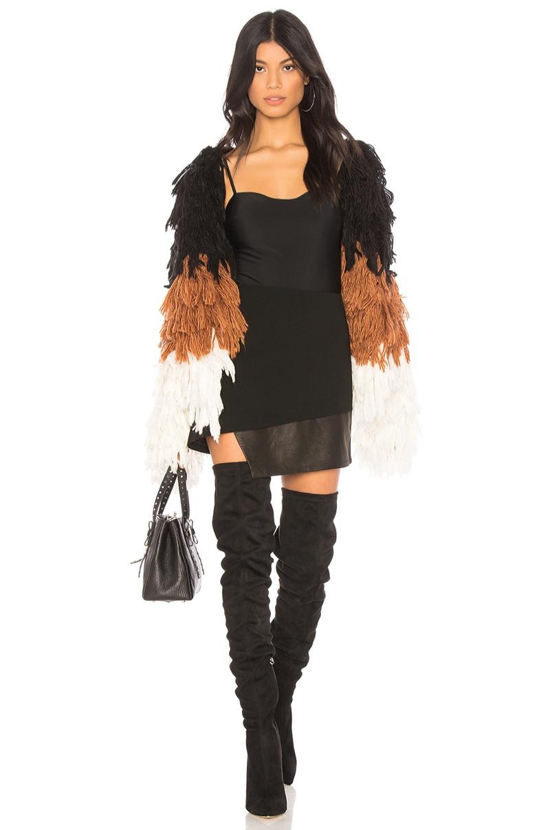 Chrissy Teigen x REVOLVE Shaggy Coat $248