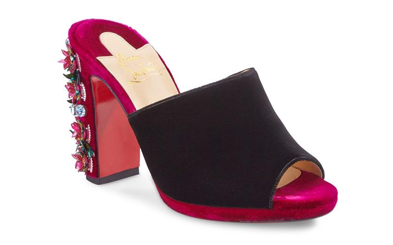 Christian Louboutin Donaflor 100 Embellished Velvet Mules $1,495