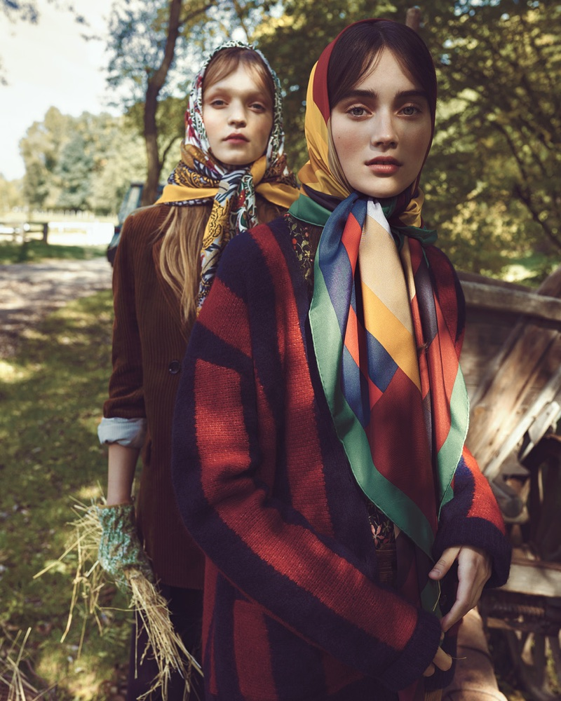 Kinga & Eliza Live the Simple Life in Harper's Bazaar Czech