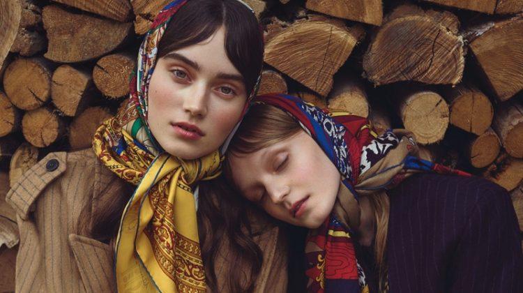Kinga & Eliza Live the Simple Life in Harper's Bazaar Czech
