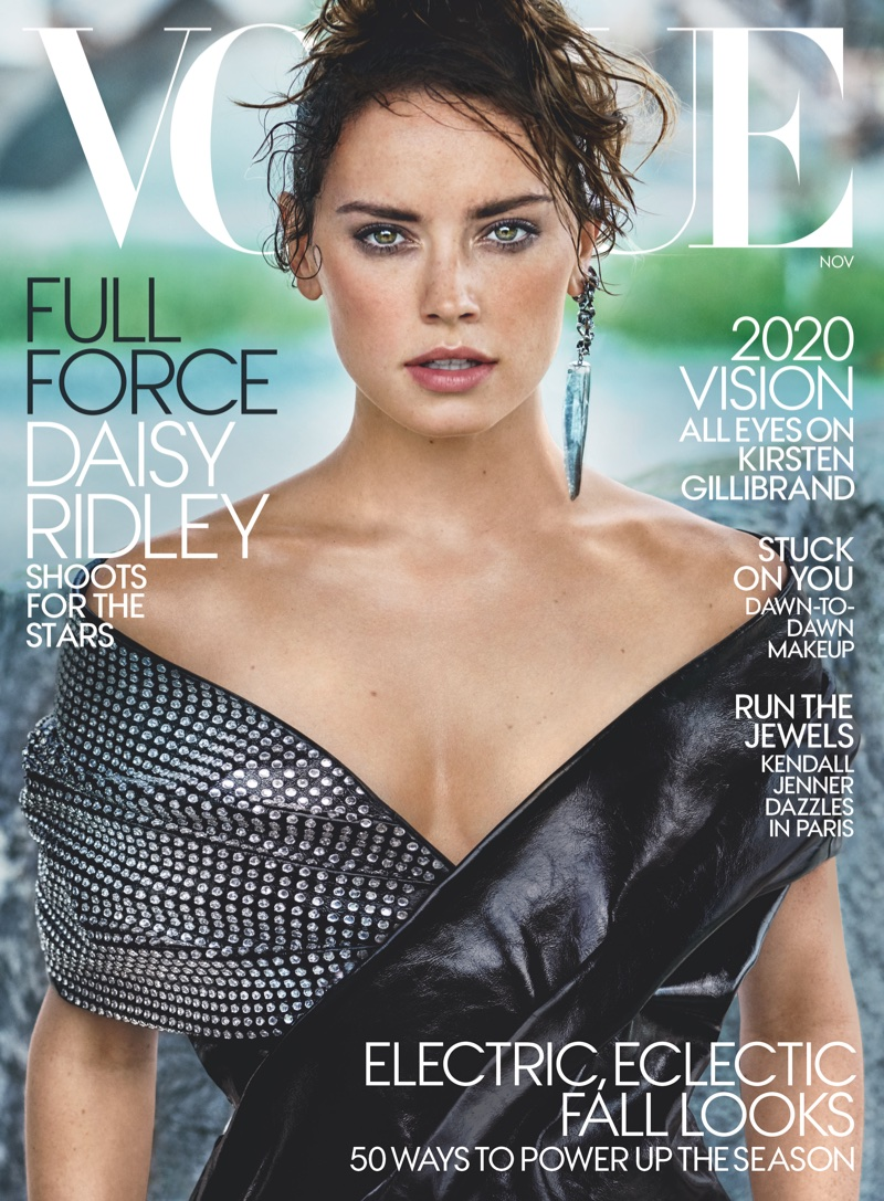 Daisy Ridley on Vogue US November 2017 Cover. Photo: Mario Testino