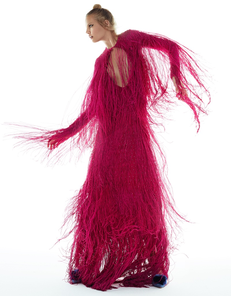 Elisabeth Erm Wears Statement Fall Fashions in Grazia Italy