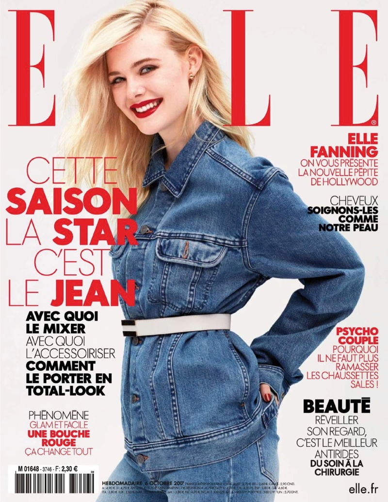 Elle Fanning on ELLE France October 6th, 2017 Cover