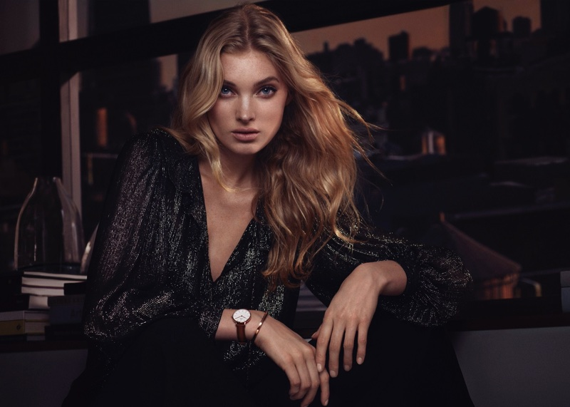 Model Elsa Hosk appears in Daniel Wellington campaign