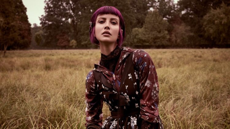 Ester Berdych Models Erdem x H&M's Dreamy Looks for ELLE Czech
