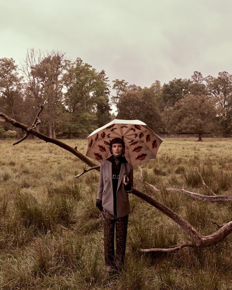 Ester Berdych Models Erdem x H&M's Dreamy Looks for ELLE Czech