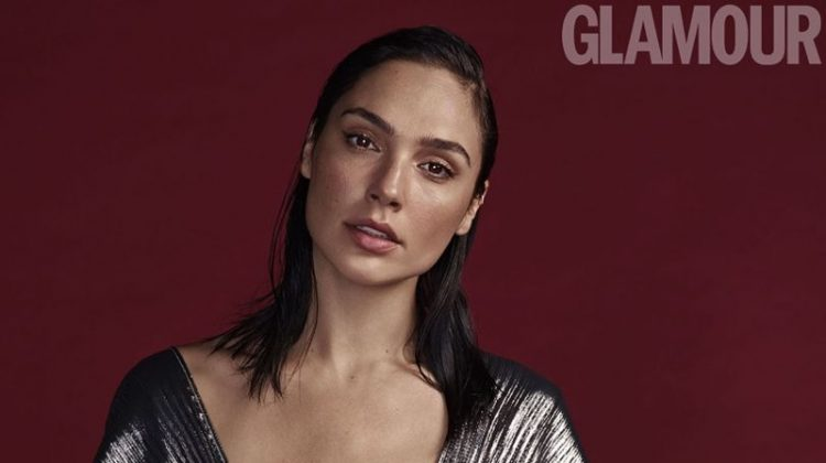 Shining in silver, Gal Gadot poses for Glamour UK