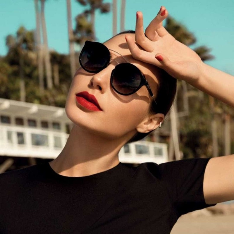 Actress Gal Gadot poses in sunglasses for Erocca eyewear campaign
