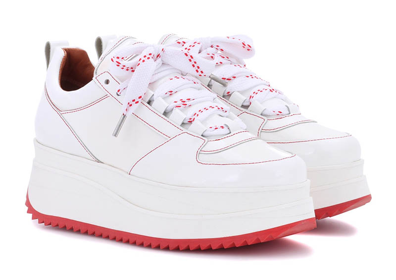 Ganni Edel Patent Leather Sneakers $395