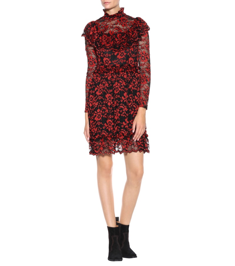 Ganni Flynn Ruffled Lace Dress $280