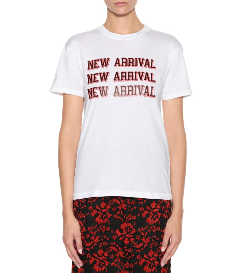 Ganni Harway Printed Cotton T-Shirt $70