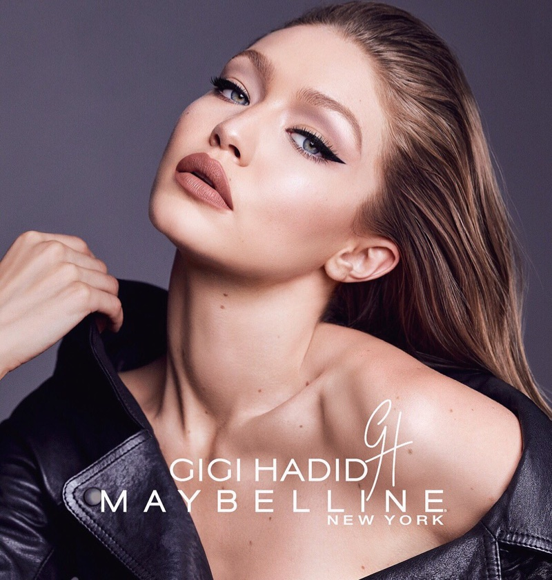 Model Gigi Hadid shows off a bold pout for GigixMaybelline collaboration