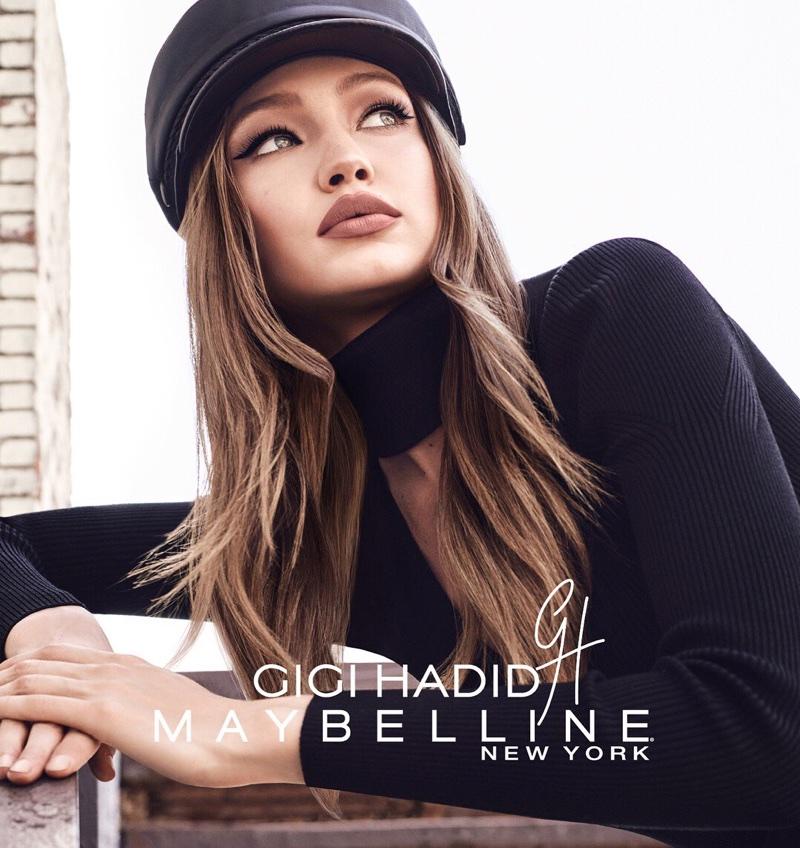 Model Gigi Hadid looks chic in GigixMaybelline makeup campaign