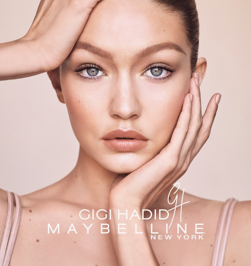 Model Gigi Hadid has a natural glow in GigixMaybelline campaign
