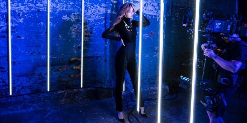 Gigi Hadid behind-the-scenes at Messika campaign