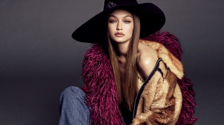 Gigi Hadid Models Super Glam Styles for Vogue Japan