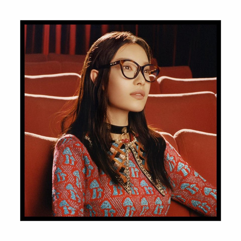 Chinese actress Ni Ni appears in Gucci Eyewear's fall-winter 2017 campaign