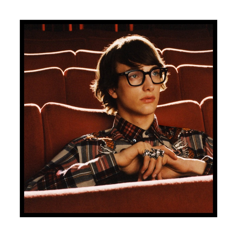 Thomas Riguelle appears in Gucci Eyewear's fall-winter 2017 campaign