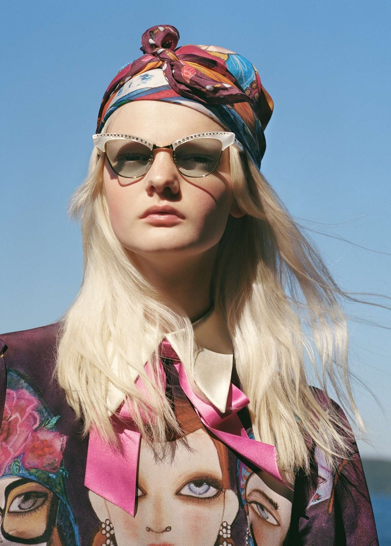 Unia Pakhomova stars in Gucci x Unskilled Worker campaign