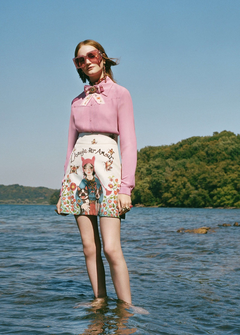 An image from the Gucci x Unskilled Worker campaign