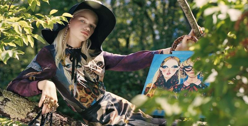 Stella Lucia stars in Gucci x Unskilled Worker campaign