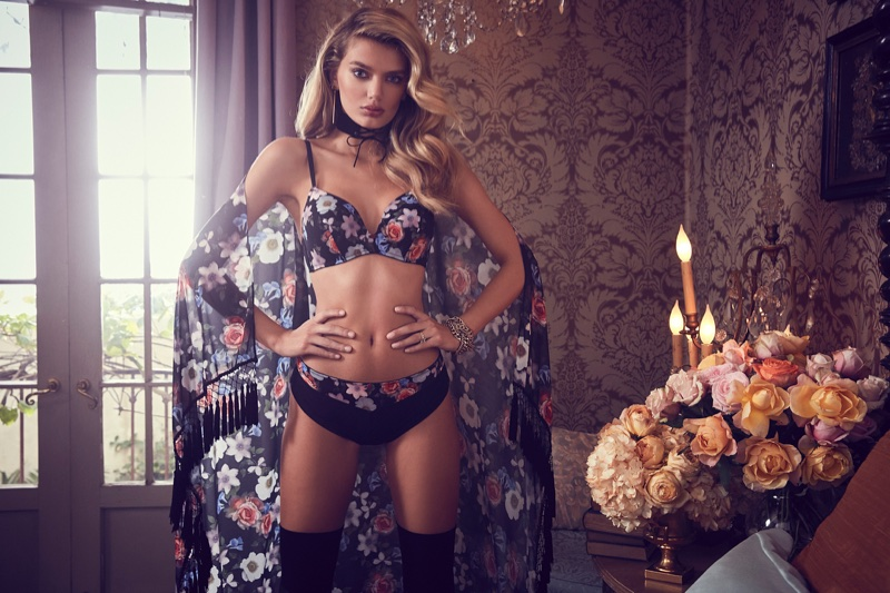 Bregje Heinen stars in Guess Lingerie's fall-winter 2017 campaign